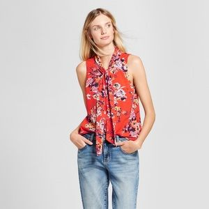 A New Day Orange Floral Shirt
